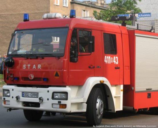 KMPSP Warszawa:  14.05.2019 - Ćwiczenia rozwinięć na budynku wysokościowym